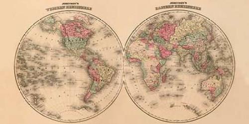 Johnsons World Map Poster Print by A.J. Johnson - Item # VARPDX379286