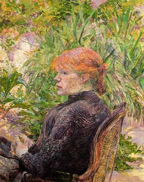 Red Haired Girl In A Garden Poster Print by Henri Toulouse-Lautrec - Item # VARPDX373455
