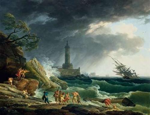 A Storm on a Mediterranean Coast Poster Print by Claude-Joseph Vernet - Item # VARPDX459981