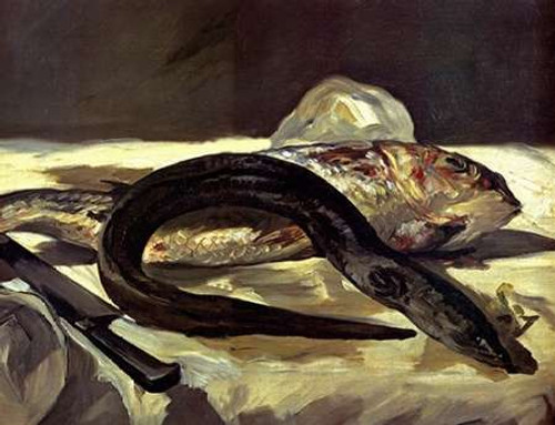 Eel and Red Mullet Poster Print by Edouard Manet - Item # VARPDX373493
