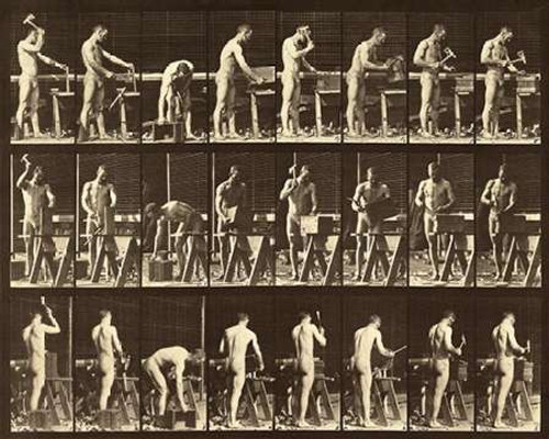 Motion Study: Woodwork Poster Print by Eadweard Muybridge - Item # VARPDX474184