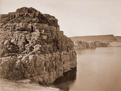 The Dalles, Extremes of High and Low Water, 92 ft./Head of the Dalles, Columbia River, Oregon, about Poster Print by Carleton Watkins - Item # VARPDX455395
