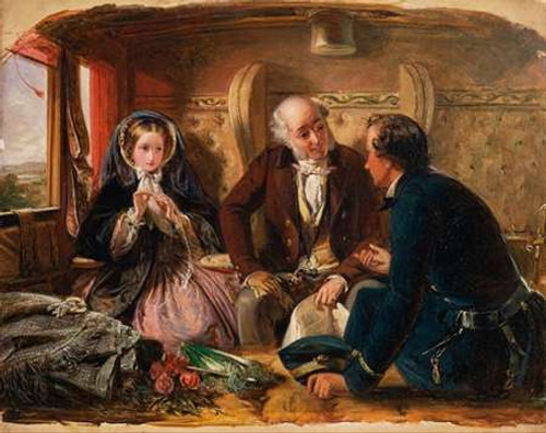 First Class - The Meeting, 1855 Poster Print by Abraham Solomon - Item # VARPDX460044