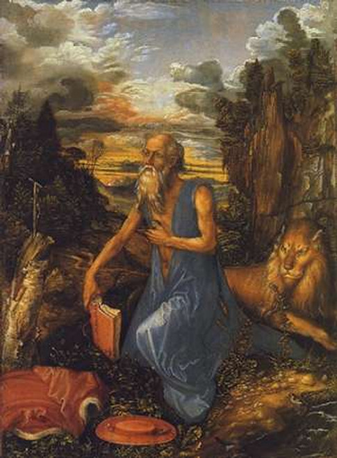 St Jerome In A Landscape Poster Print by Albrecht Durer - Item # VARPDX372831