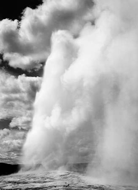 Old Faithful, Yellowstone National Park, Wyoming, ca. 1941-1942 Poster Print by Ansel Adams - Item # VARPDX460984