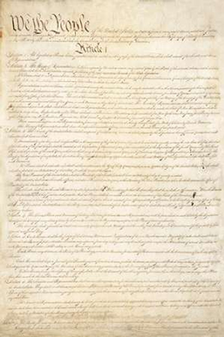 Constitution of the United States, 1787 Poster Print by Constitutional Convention - Item # VARPDX456133