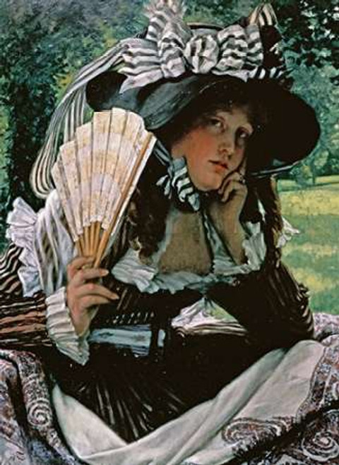 Girl With a Fan Poster Print by James Jacques Tissot - Item # VARPDX268592