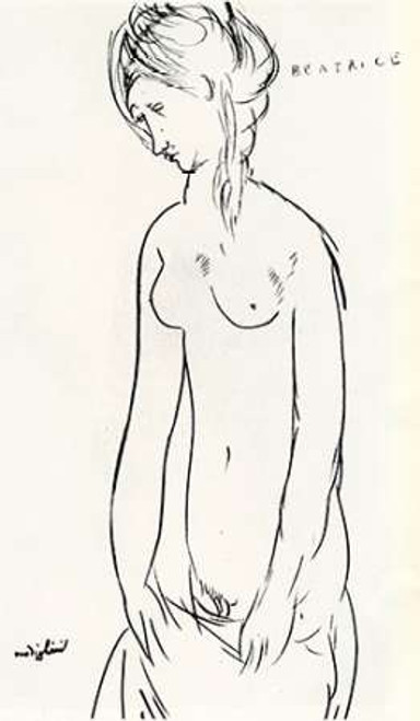 Beatrice Hastings Nude Poster Print by Amedeo Modigliani - Item # VARPDX373604
