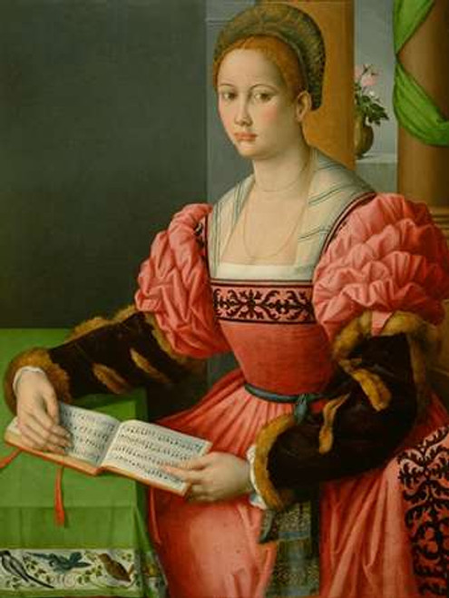 Portrait of a Woman with a Book of Music Poster Print by Francesco Ubertini - Item # VARPDX455040