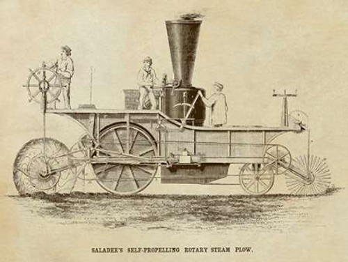 Saladees Self-Propelling Rotary Steam Plow Poster Print by Inventions - Item # VARPDX376277