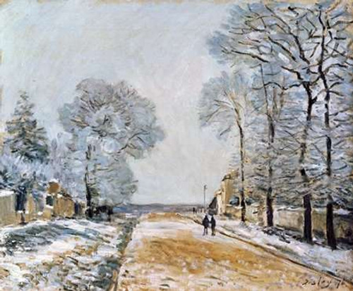 La Route, Effet De Neige Poster Print by Alfred Sisley - Item # VARPDX265550