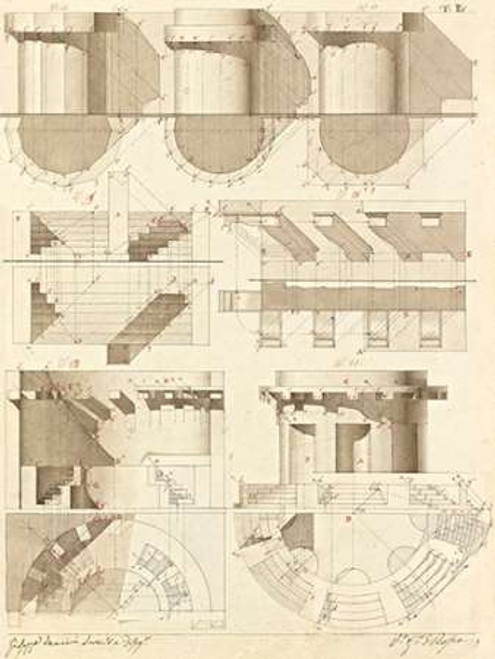 Plate 50 for Elements of Civil Architecture, ca. 1818-1850 Poster Print by Giuseppe Vannini - Item # VARPDX453933