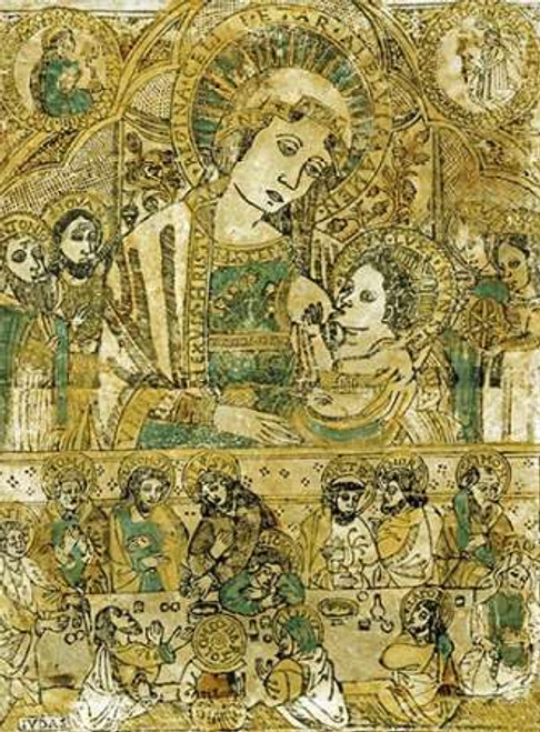 The Madonna and Child Enthroned Poster Print by Italian School - Item # VARPDX266624