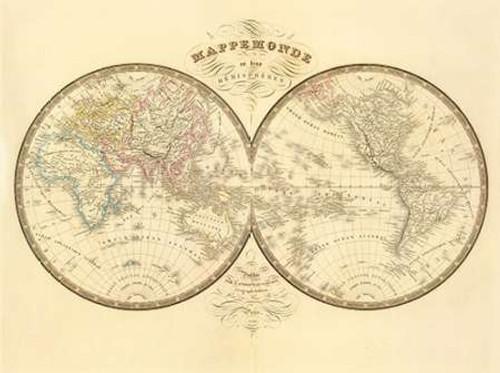 Mappemonde, 1849 Poster Print by J. Andriveau-Goujon - Item # VARPDX294915