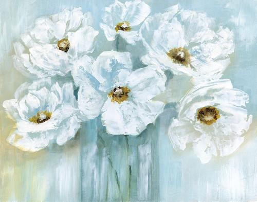 White Poppy Bouquet Poster Print by Nan - Item # VARPDX18550