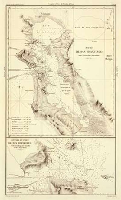 Port of San Francisco, California, 1844 Poster Print by Eugene Duflot De Mofras - Item # VARPDX295062
