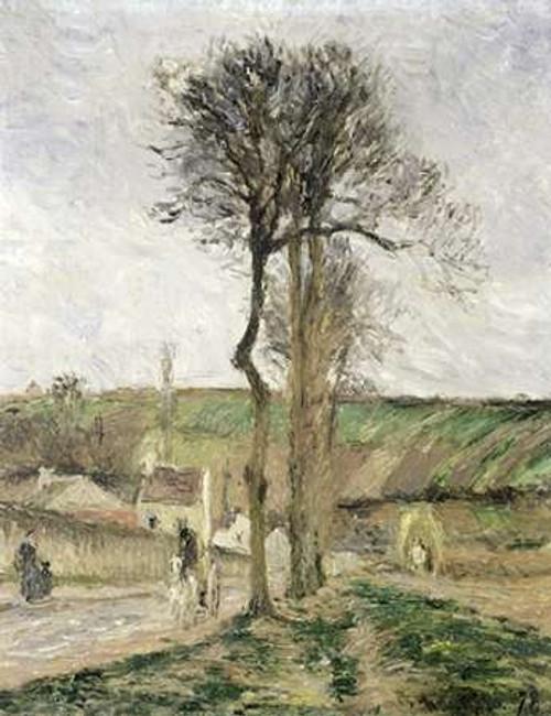 Route dEnnery a lHermitage, Environs de Pontoise Poster Print by Camille Pissarro - Item # VARPDX279432