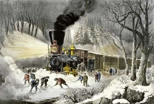 American Railroad Scene/Snowbound Poster Print by Currier and Ives - Item # VARPDX277163