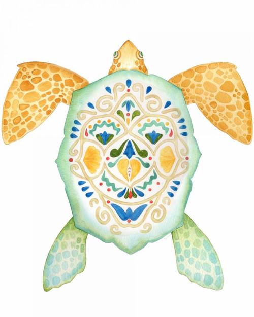 Fiesta Sea Turtle 1 Poster Print by Mary Escobedo - Item # VARPDX331ESC1915