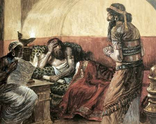 Museumonicles Are Read To Ahasuerus Poster Print by James Tissot - Item # VARPDX280256