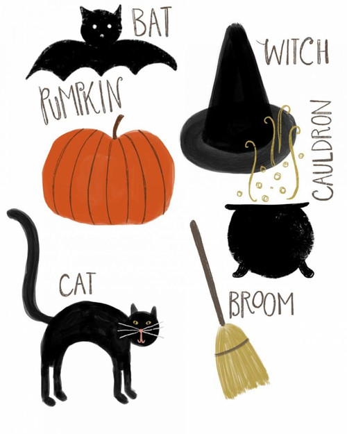 Halloween Poster Print by Katie Doucette - Item # VARPDXKA1853