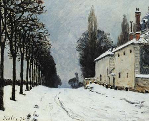 Snow On The Road Louveciennes Poster Print by Alfred Sisley - Item # VARPDX374440