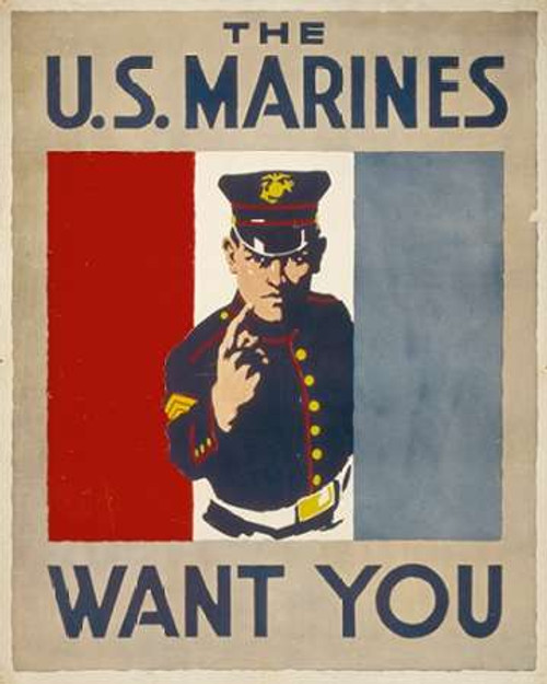 The U.S. Marines Want You, 1914/1918 Poster Print by Charles Buckles Falls - Item # VARPDX467910