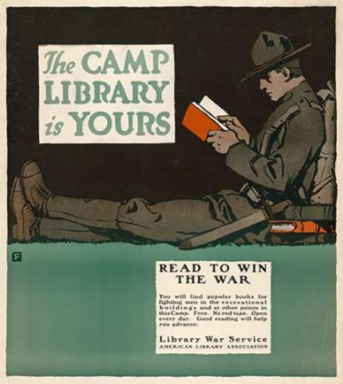 The Camp Library is Yours - Read to Win the War, 1917 Poster Print by Charles Buckles Falls - Item # VARPDX467911