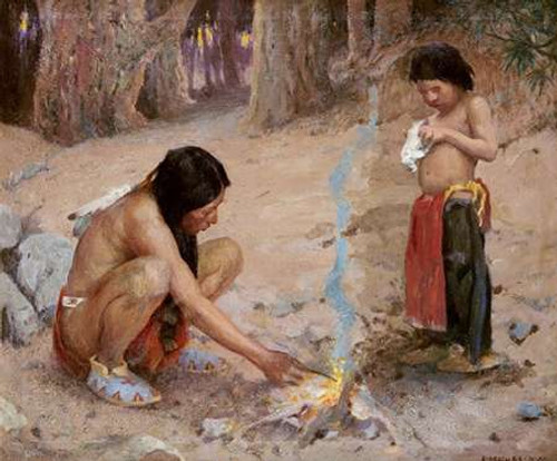 The Campfire Poster Print by Eanger Irving Couse - Item # VARPDX267881