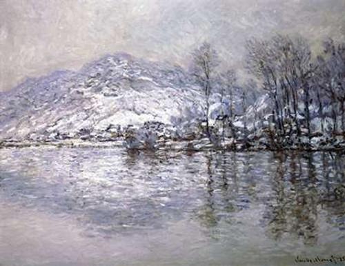 The Seine at Port-Villez, Snow Effect Poster Print by Claude Monet - Item # VARPDX278670