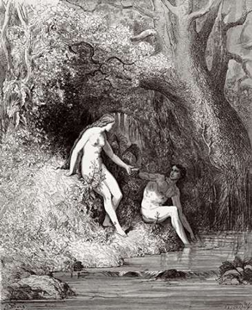 Adam and Eve In Paradise Poster Print by Gustave Dore - Item # VARPDX277417