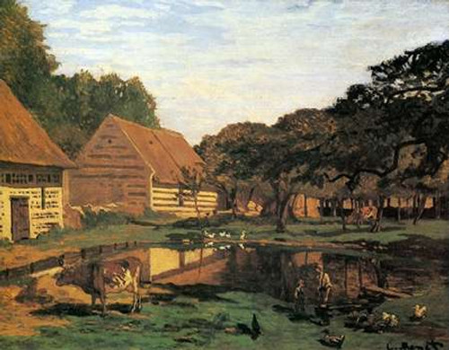 Farmyard In Normandy 1863 Poster Print by Claude Monet - Item # VARPDX373775