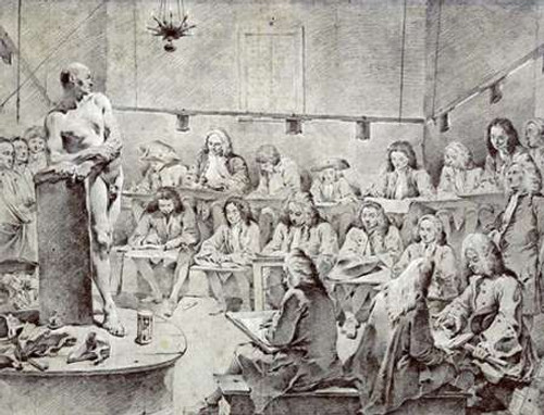 Piazzettas Academy: Artists Drawing a Nude Poster Print by Giovanni Battista Tiepolo - Item # VARPDX267397