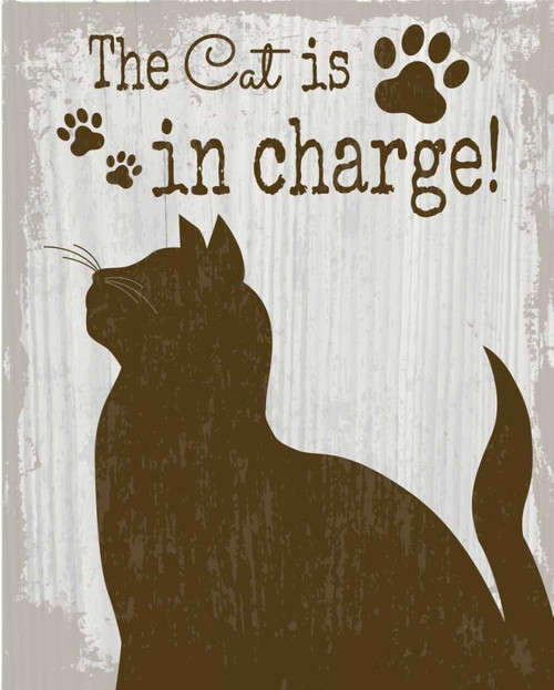 The Cat is in Charge Poster Print by ND Art and Design - Item # VARPDXND1514