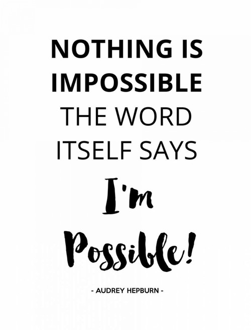 Nothing IS Impossible Poster Print by Z Studio - Item # VARPDX902ZST2622