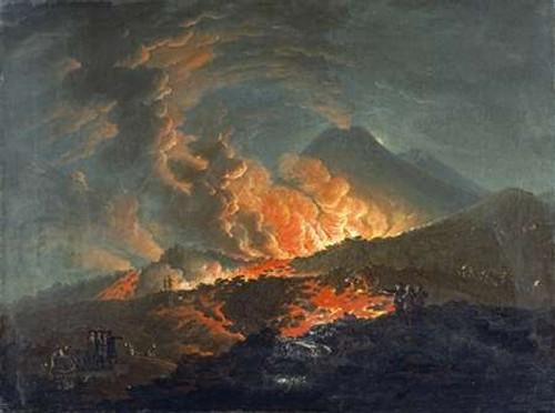 Vesuvius Erupting at Night Poster Print by Jacques Antoine Volaire - Item # VARPDX265772