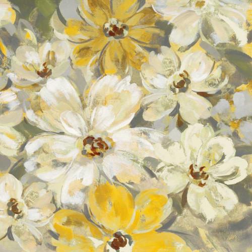Scattered Spring Petals Yellow Gray Crop Poster Print by Silvia Vassileva - Item # VARPDX34440
