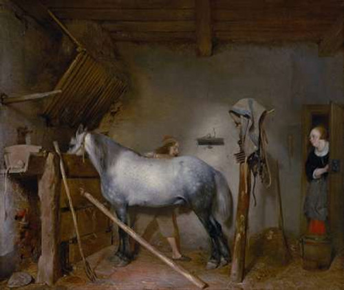 Horse Stable Poster Print by Gerard Ter Borch - Item # VARPDX459880