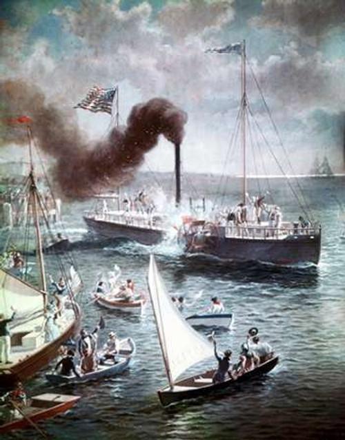 Fultons Triumph The Clermont, 1807 Poster Print by Henry Alexander Ogden - Item # VARPDX279019