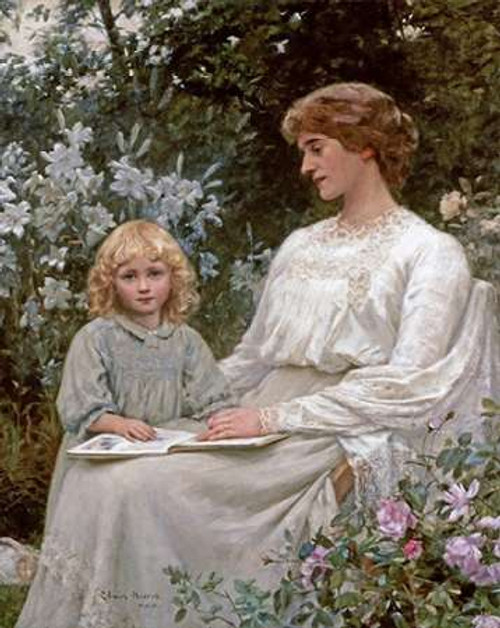 Portrait of a Mother and a Daughter Poster Print by Edwin Harris - Item # VARPDX266503