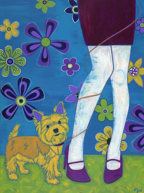 The Yorkie Fandango Poster Print by Angela Bond - Item # VARPDXB3510D