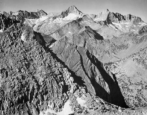 Mt. Brewer, Kings River Canyon, proVintageed as a national park, California, 1936 Poster Print by Ansel Adams - Item # VARPDX460800