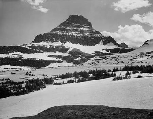 View from Logan Pass, Glacier National Park, Montana - National Parks and Monuments, 1941 Poster Print by Ansel Adams - Item # VARPDX460728