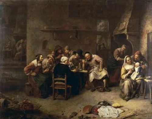 Peasants Drinking and Smoking In An Inn Poster Print by Gillis Van Tilborch - Item # VARPDX265766
