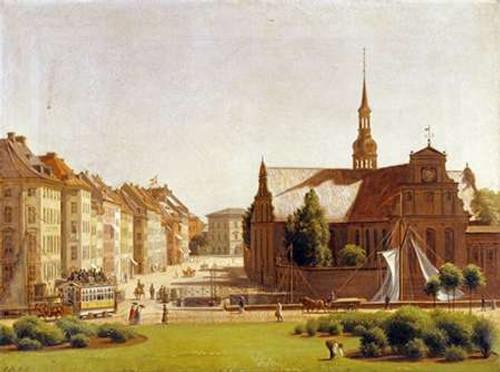 The Palace Square, Copenhagen Poster Print by Constantin Hansen - Item # VARPDX266489