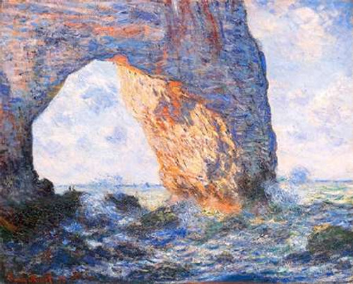 The Manneporte At Etretat 1883 Poster Print by Claude Monet - Item # VARPDX373850