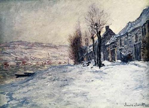 Lavacourt Under Snow Poster Print by Claude Monet - Item # VARPDX278674