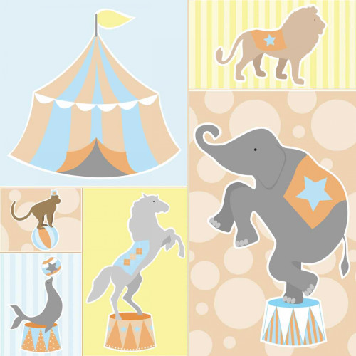 Baby Big Top Iii Blue Poster Print by ND Art and Design - Item # VARPDXND1057
