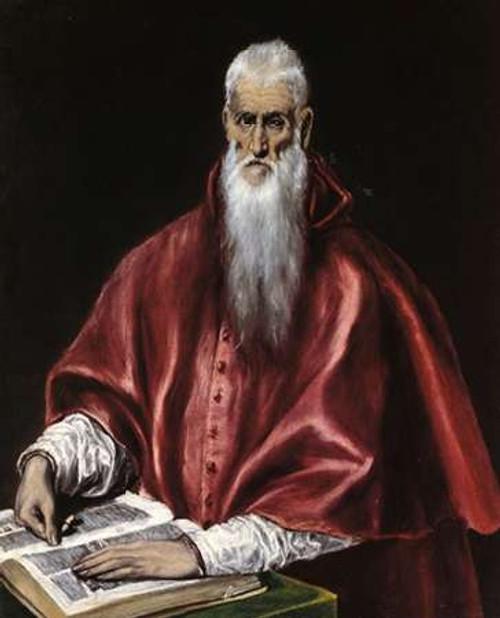 Saint Jerome As A Scholar Poster Print by El Greco - Item # VARPDX372929