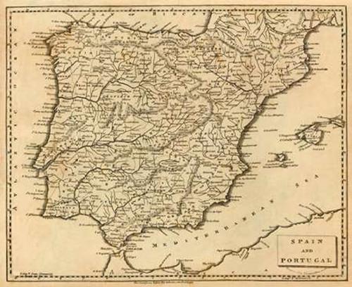 Spain, Portugal, 1812 Poster Print by Aaron Arrowsmith - Item # VARPDX295439